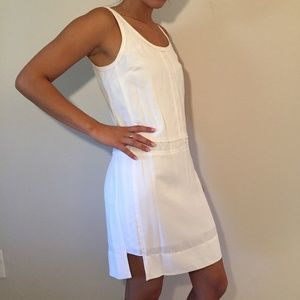 Banana Republic White Sleeveless Dress